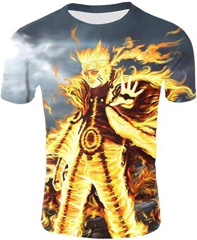 TSHIMEN Camisetas Hombre One Piece Naruto Camiseta Anime Costume City para Hombre Camiseta de Estilo japonés con Estampado 3D Camiseta Funny Cool Street Costume Gris: Amazon.es: Ropa y accesorios