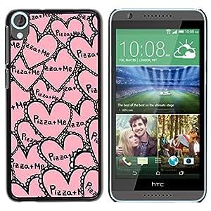 YOYOYO Smartphone Protección Defender Duro Negro Funda Imagen Diseño Carcasa Tapa Case Skin Cover Para HTC Desire 820 - aloha palmera mar océano verano