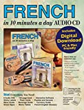 FRENCH in 10 minutes a day AUDIO CD: Language course for beginning and advanced study.  Includes Workbook, Flash Cards, Sticky Labels, Menu Guide, ... Grammar.  Bilingual Books, Inc. (Publisher)
