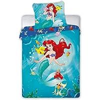 Princess Ariel Arielle kinderbeddengoed, babybeddengoed, 100 x 135 cm + 40 x 60 cm