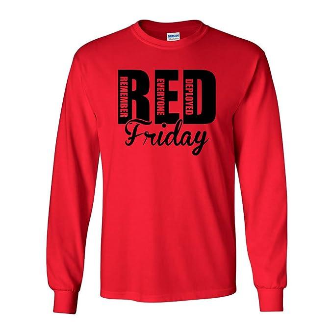 Original RED Friday Flag Remember Everyone Deployed Pullover Hoodie Sweatshirt un0HoCB