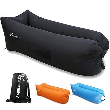 Vansky® Saco Inflable Tumbona Inflable Sofá Saco de Dormir, Colchones de Aire de Compresión