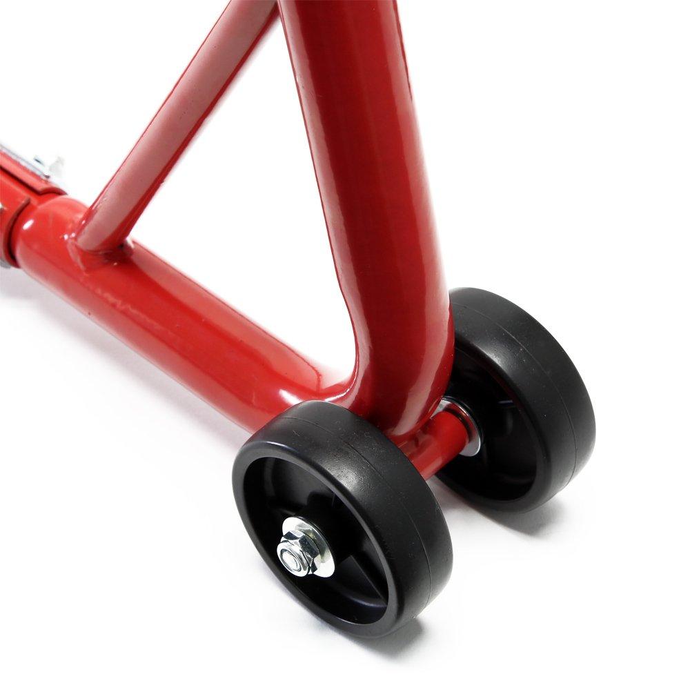 Cavalletto per moto Aiuto al montaggio per ruota posteriore Capacit/à di carico 450 kg