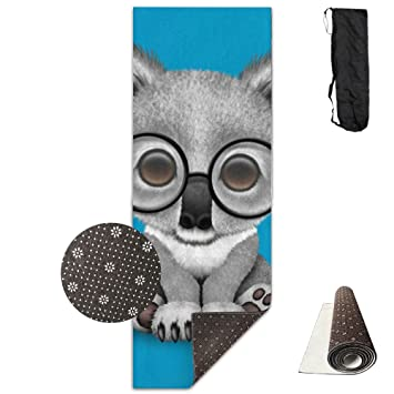 Amazon.com : Gym Mat Cute Baby Koala Bear Wearing Glasses ...