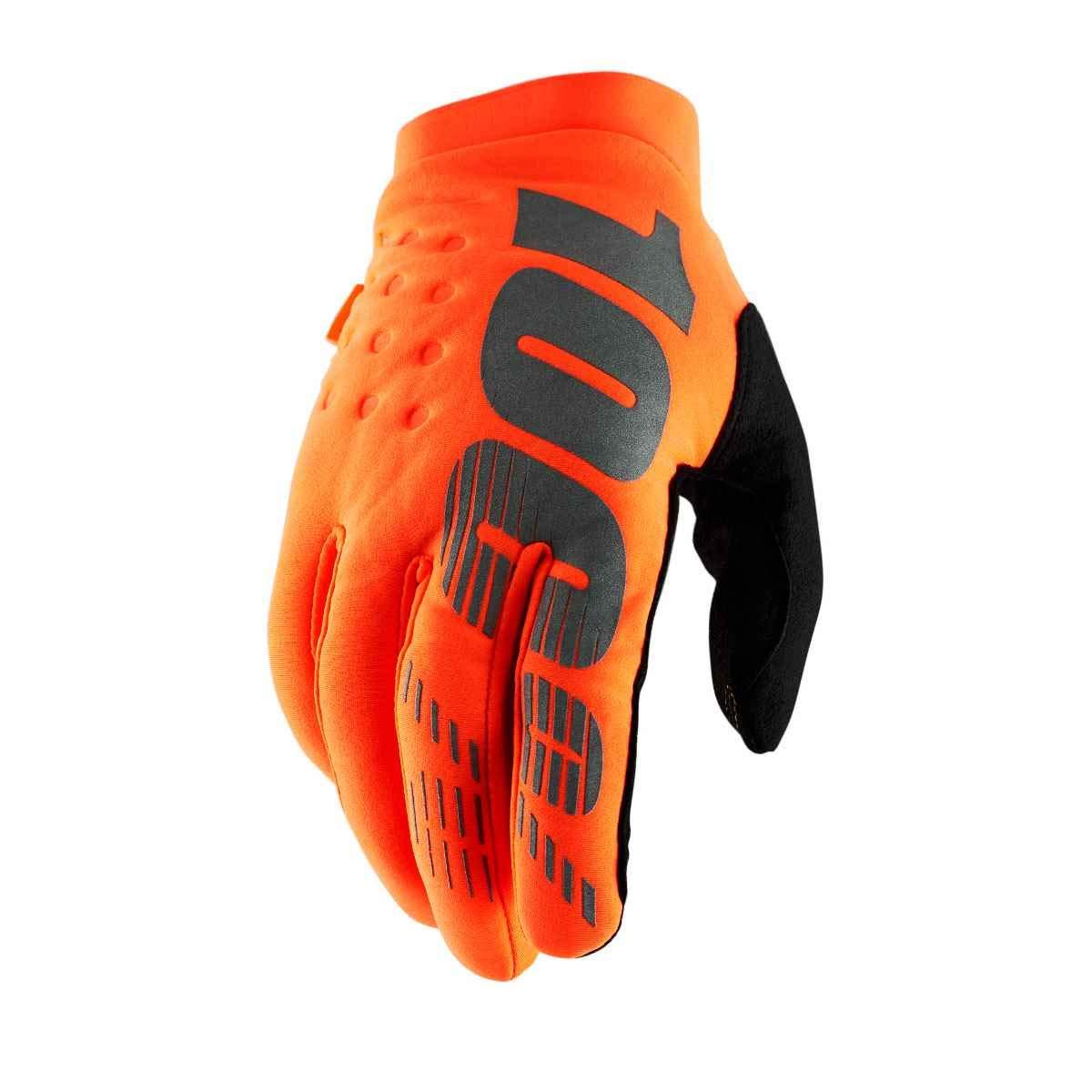 Fluo Orange//Black//X-Large 100/% Brisker Adult Off-Road Motorcycle Gloves