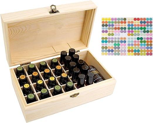 Beunyow 36 Botellas Portátil Almacenamiento de Aceite Esencial de la Caja de Madera para exhibir Aceite, Perfume, Aceite Esencial para Negocios, Adecuado para la Familia y la Aromaterapia: Amazon.es: Hogar