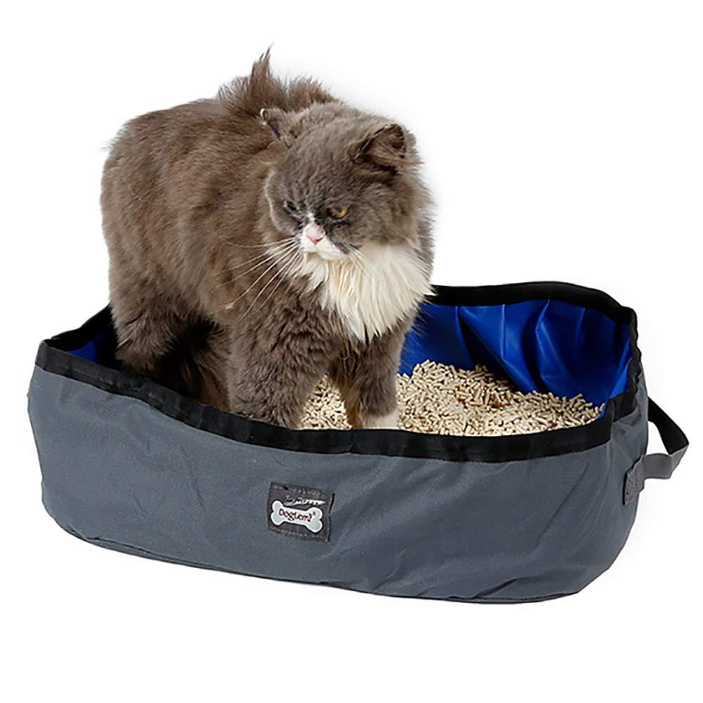 TFENG Litière pour Chat Pliable, bassins de lit étanches Portables, 46 x 35 x 14 cm Piscine pour Chien de Toilette Kitty pour Voyage en Plein air(Jaune) TFENG Inc.