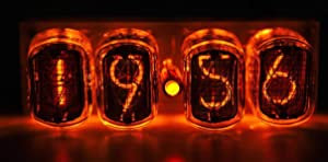 Nixie Vacuum Tube Clock - Neon Steampunk Dieselpunk Desk IN-12 Digital Clock with Power Adapter Without Box - Gift for Him Brother Friend Father - Vintage Soviet Made During The Cold War Era Handmade