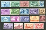 Complete set of US Commemorative Stamps issued in 1953 and 1954 Mint, Never-hinged. Includes issues honoring National Guard, Washington Territory, Louisiana Purchase, China, Future Farmers, Truckers, George Patton, Nebraska, Kansas and more