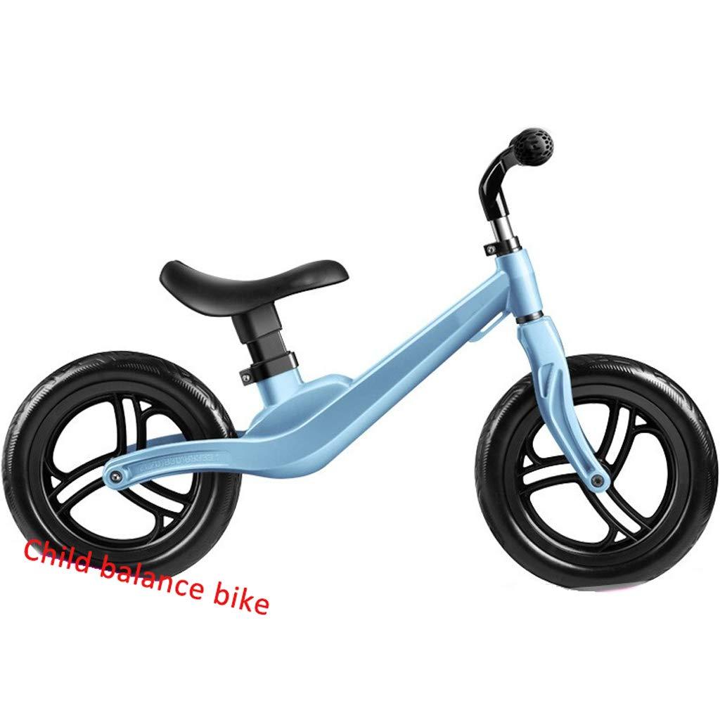 Bicicletta Leggera per Bambini Bilancia da Scivolo Senza Pedali Scooter da Bicicletta Bambino di 6 Anni Baby Walker (Colore   blu)