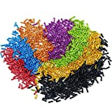 Z&S Pack of 50pcs Aluminium Alloy Bicycle Cable End Caps Bike Brake Derailleur Shifter Housing Cable End Tips Crimps for Most Bikes, MTB,Mountain Bike,Road Bicycle 7 Color Choice