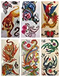Kids love them! 6 Sheets of Large Animal Color Temporary Tattoo's