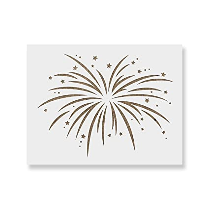 amazon com fireworks stencil template reusable stencil with