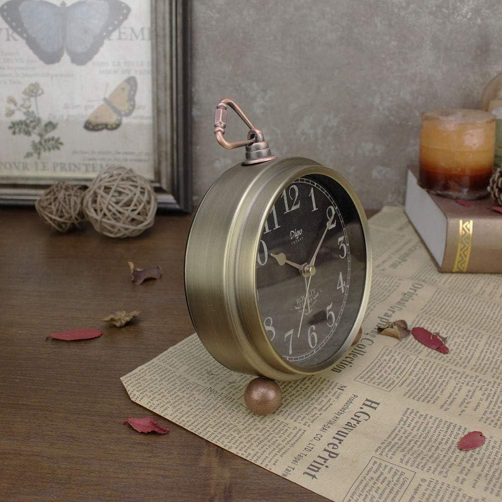 Wohnzimmer laute Tischuhr mit Nachtlicht batteriebetrieben nicht tickend K/üche rose AVEKI Wecker Schreibtischuhr f/ür Schlafzimmer