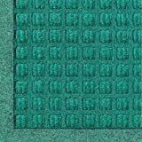 "Andersen 280 WaterHog Fashion Polypropylene Fiber Entrance Indoor/Outdoor Floor Mat, SBR Rubber Backing, 3' Length x 2' Width, 3/8"" Thick, Aquamarine"