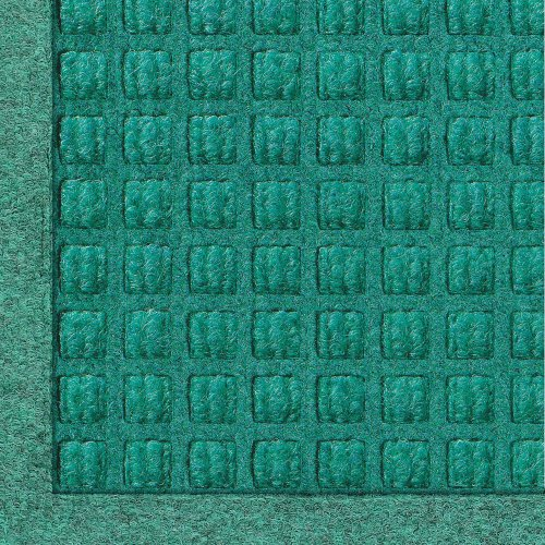 WaterHog Fashion Commercial-Grade Entrance Mat, Indoor/Outdoor Charcoal Floor Mat 3' Length x 2' Width, Aquamarine by M+A - Recycled Fiber Mat