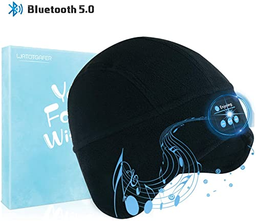 Bluetooth Beanie Hat, WATOTGAFER Wireless Hat Headphones Unisex Men Women Outdoor Sport Beanie with Stereo Speakers and Microphone for Birthday, Thanksgiving Day, Christmas Day