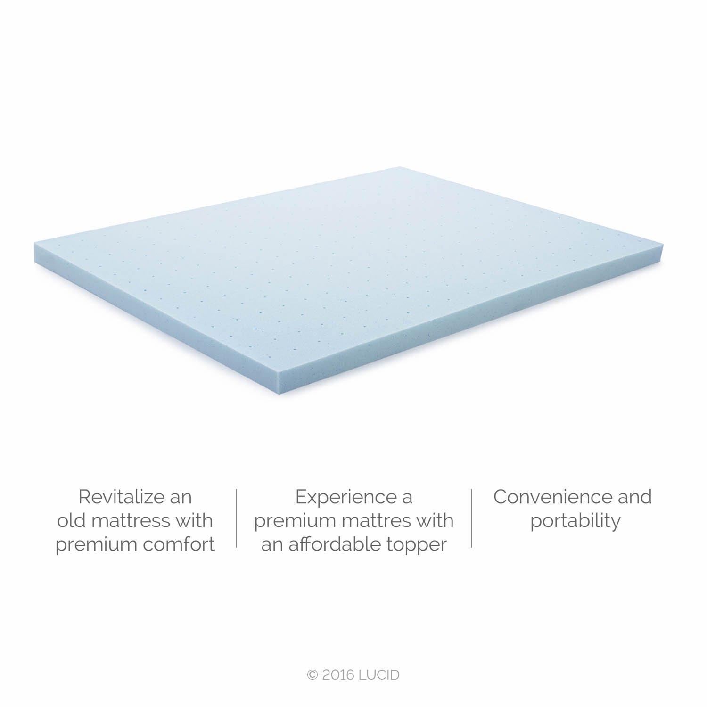 gel memory foam mattress topper bed pad ventilated gel infused 3 inch queen new ebay. Black Bedroom Furniture Sets. Home Design Ideas