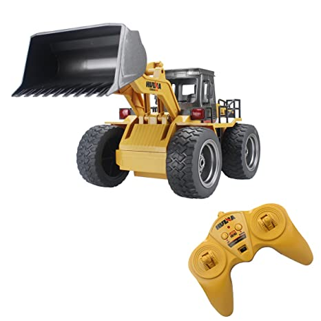 amazon com fisca rc truck remote control wheeled front loader
