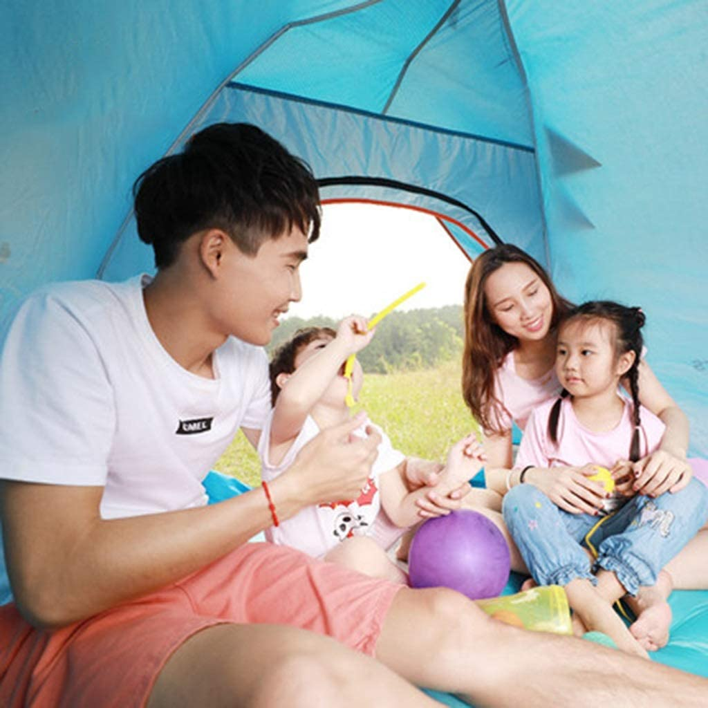 Tienda De Campaña Carpa automática Exterior 3-4 Personas Acampada Lluvia y protección UV Carpa múltiple Color (Color : B) D