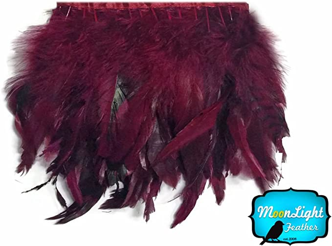 Champagne Chinchilla Rooster Feathers Trim 1 yard