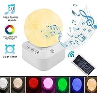 White Noise Machine, Portable Bruit Blanc Son Machine avec lumière de Nuit apaisante, 10 Relaxant, veilleuse 7 couleurs, Chargement USB, pour bébé/Enfant/Adulte/Insomniac/Voyage/Maison/Bureau