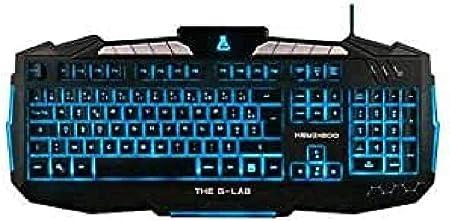 The G-Lab KEYZ200-N/SP - Teclado Gaming (Layout Español retroiluminado con 8 Teclas Multimedia)