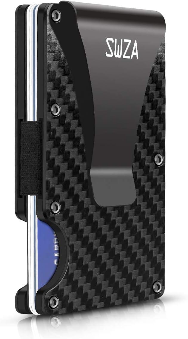 Credit Card Case Carbon Fiber Slim Wallet /& Key Organizer RFID Metal Wallet