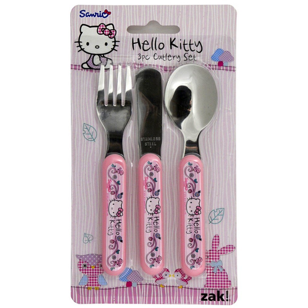 Hello Kitty 'Woodland Animal' 3Pc Cutlery DZ-UTLE-UOHY