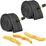 2 Pack Bike Tube with 3 Tire Levers, Bicycle Inner Tube Tyres Road MTB Bike Interior Tire Tube Anti Puncture Tube for…