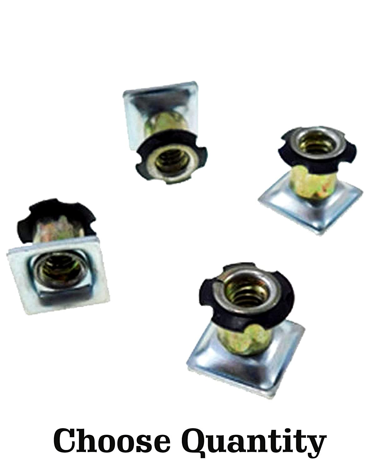 O.D. 4 Threaded Inserts for Square Tubing Square Tubing Insert 1//4-20 Threads Square Threaded Tube Inserts Metal Threaded Star Type Insert 1