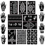Koogel 18 Sheets Henna Tattoo Stencil Kit, 97 Pcs