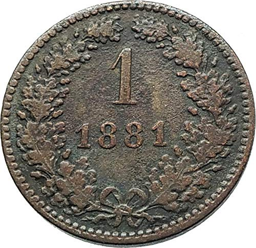 1881 AT 1881 AUSTRIA w KING FRANZ JOSEPH I Aquila Genuine coin Good Uncertified