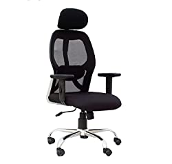 KS Chairs Pollo Chrome Base HIGH Back Office Chair Adjustable ARMS