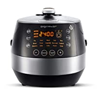 Aigostar Happy Chef 7-in-1 Electric Multi Cooker 30KHF -Programmable Pressure Cooker,Rice Cooker,Slow Cooker, 24-Hour Timer, Keep-Warm Function, 5L Non-Stick Handy Pot, 900W, Black and Silver.