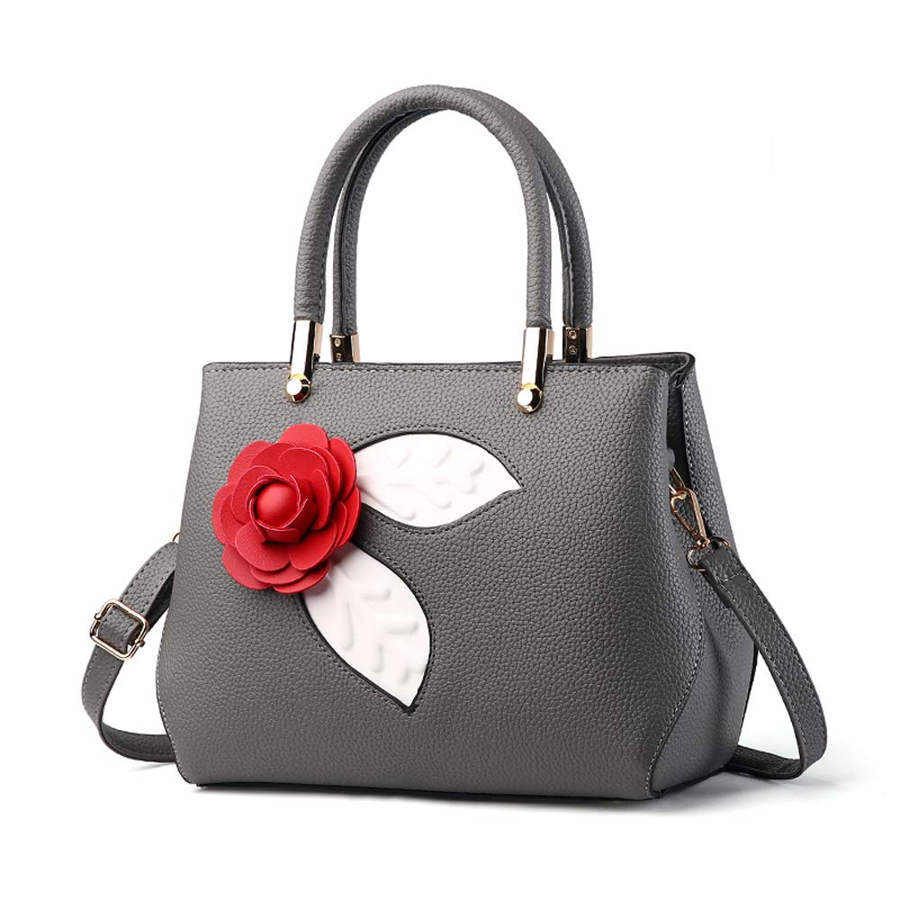 Purses and Handbags for Women Top Handle Bags Leather Satchel Totes Shoulder Bag From Nevenka (Dark Gray-2) by Nevenka (Image #1)