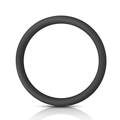 San Auto Steering Wheel Covers Silicone for Auto Car SUV Universal 15 inch Black Breathable Anti-Slip Odorless Lightweight: Automotive