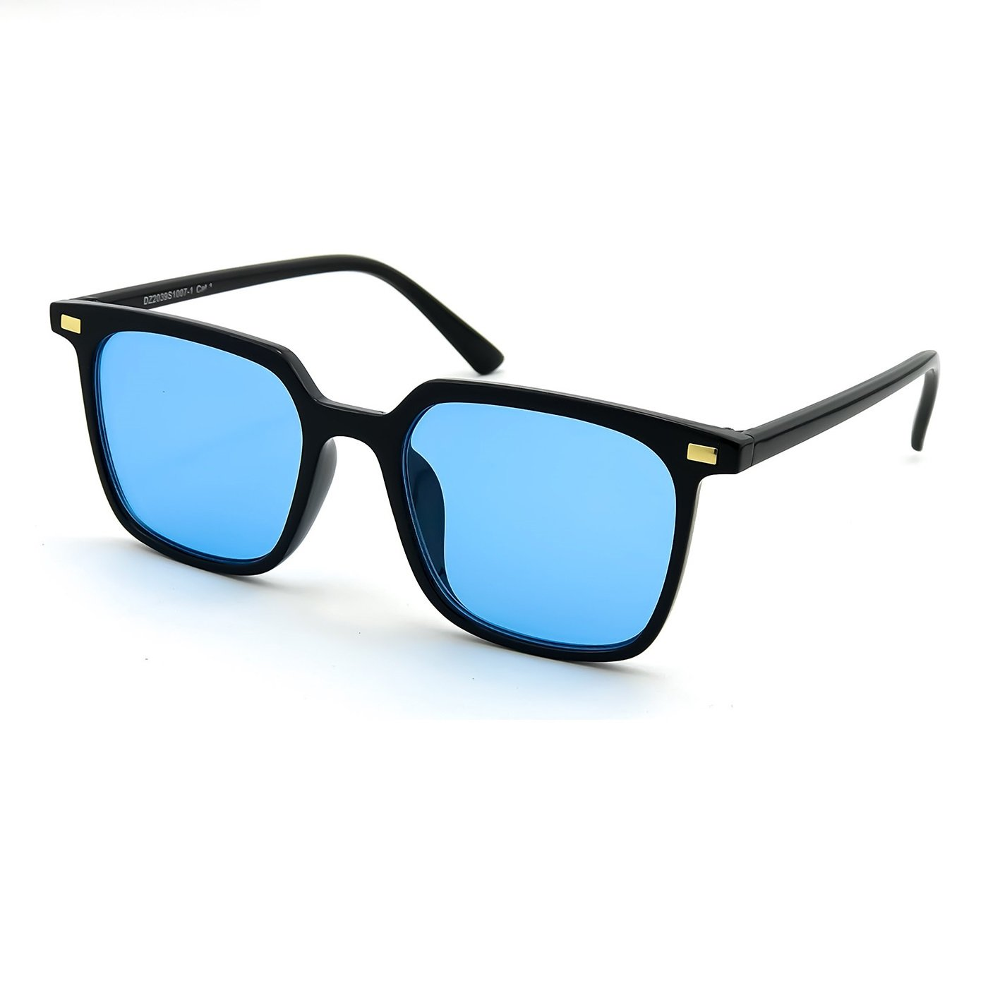 bfc1a29441 Sunglasses KISS - Fashion Concept mod. HALL - man woman HIPSTER square  vintage unisex - BLACK Blue  Amazon.co.uk  Clothing