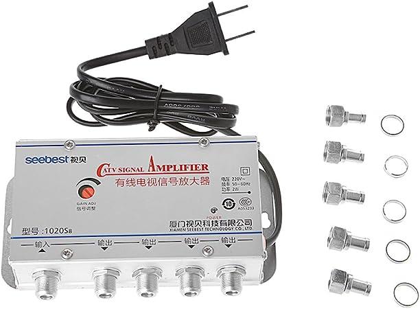 Amplificador de señal de antena, receptor, Aisumi, 4 vías ...
