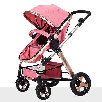 ZXLDP Sillas de paseo Cochecito de bebé / de dos vías puede estar sentado ultra-ligero plegable plegable de cuatro ruedas ...