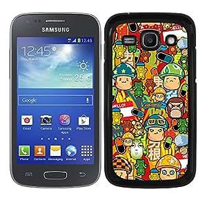 Funda carcasa para Samsung Galaxy Ace 3 diseño sticker bomb, bomba de pegatinas modelo 3 borde negro