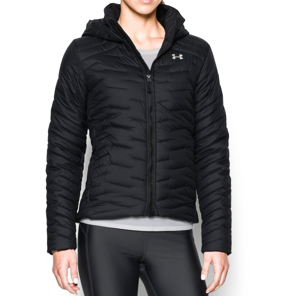 Under Armour Women's ColdGear Reactor Hooded Jacket, Black/Black, X-Small
