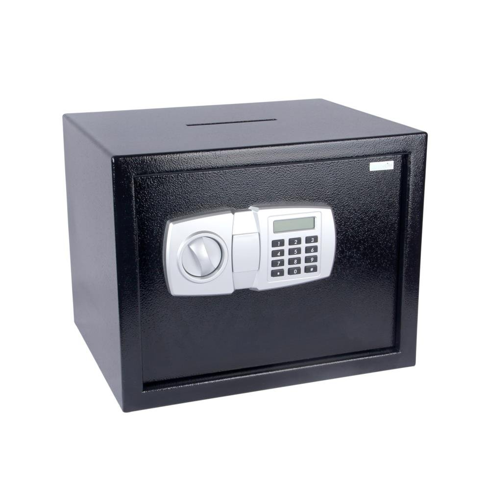 SereneLife Drop Box Safe Box | Safes & Lock Boxes | Front Loading Safe Cash Vault Drop Lock | Safe Security Box | Digital Safe Box | Money Safe Box | Steel Alloy Drop Safe Includes Keys (SLSFE348) Serene Life