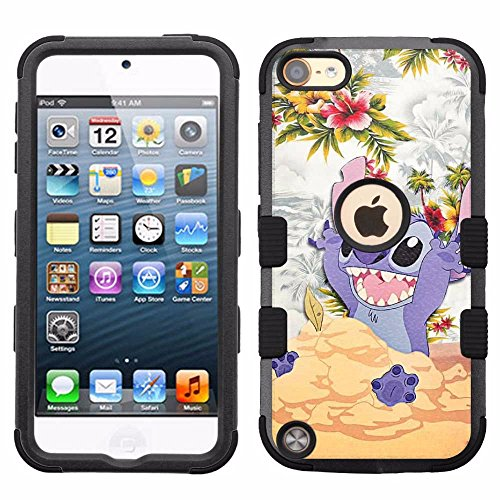 Hard+Rubber Dual Layer Hybrid Heavy-Duty Rugged Armor Cover Case - Lilo & Stitch #D ()