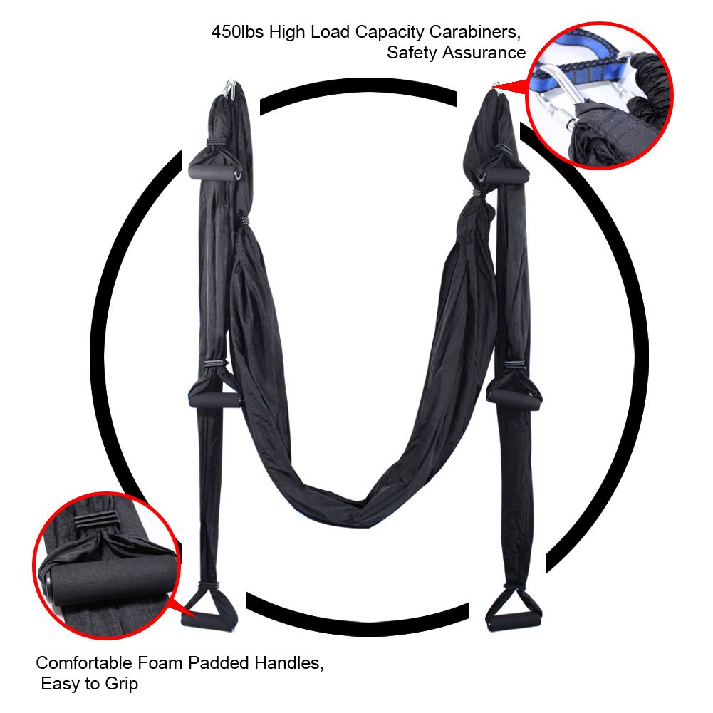 EUROSPORTS High Load Capacity Aerial Yoga Swing//Inversion//Hammock//Sling for Flying Antigravity with a Carrying Bag