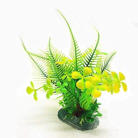 quanjucheer - Adorno Decorativo para Acuario con Hojas de bambú pequeñas Artificiales, no tóxico, Verde, SC5019: Amazon.es: Hogar
