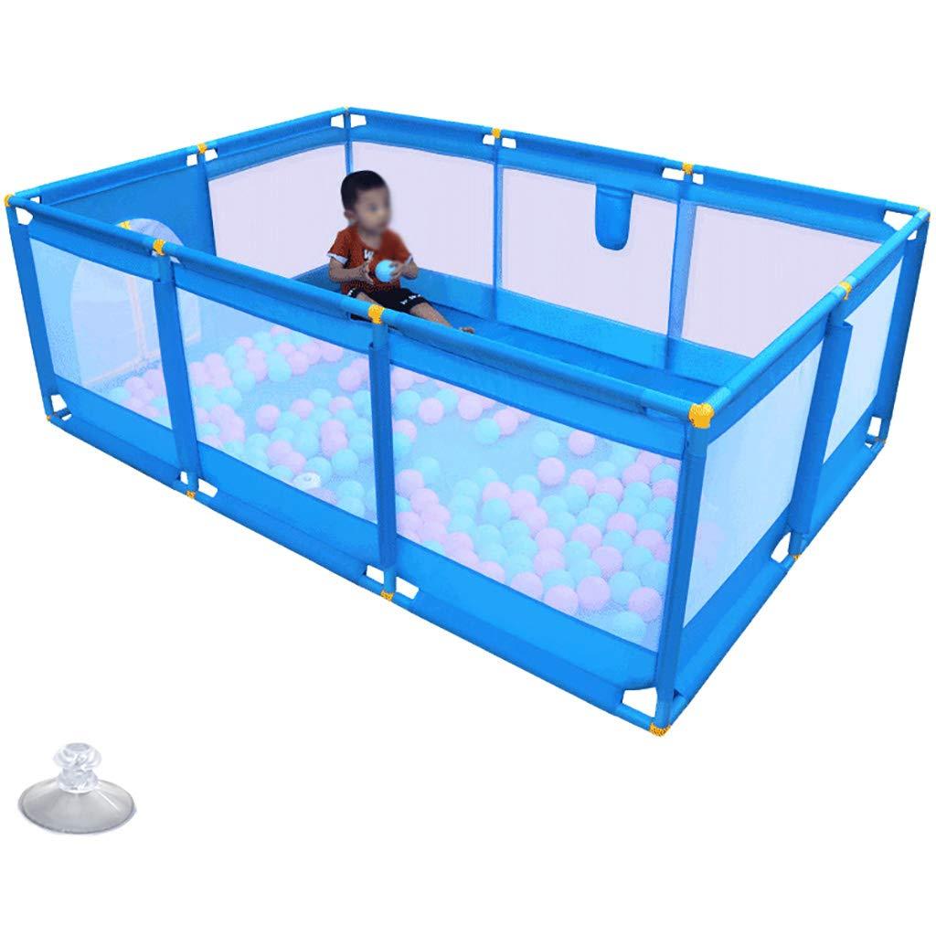 Baby Playard、幼児や赤ちゃんのための メッシュが付いている携帯用安全キッズベビーサークル、屋内と屋外のためのコンパクトベストベビーベビーサークル (色 : 190x128cmx66cm)  190x128cmx66cm B07MZRYGZ9