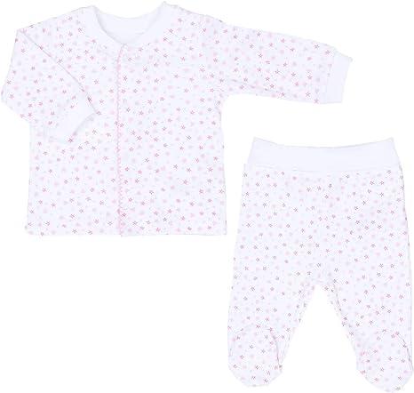 Sevira Kids - Pijama bebé (2 piezas, algodón orgánico, estrellas) rosa rosa Talla:1-3M - 56CM: Amazon.es: Bebé