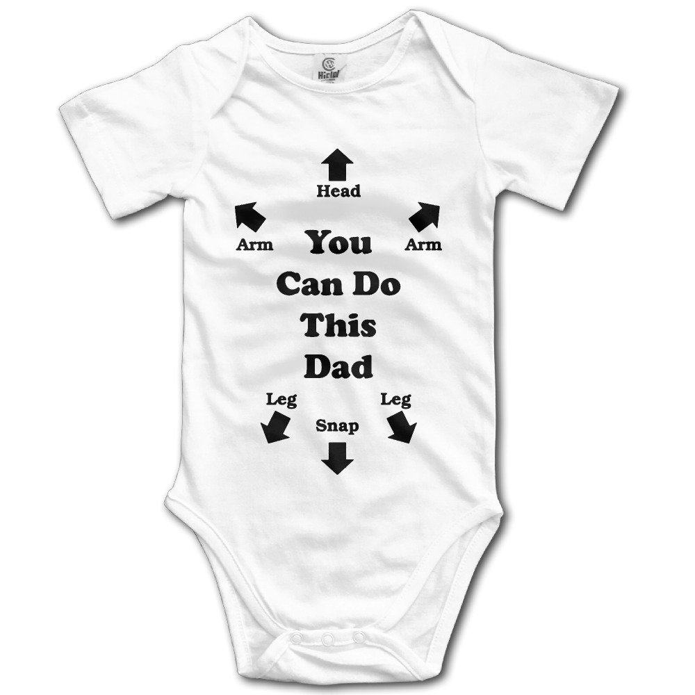 Newborn Baby You Can Do This Dad Short Sleeve Romper Creeper