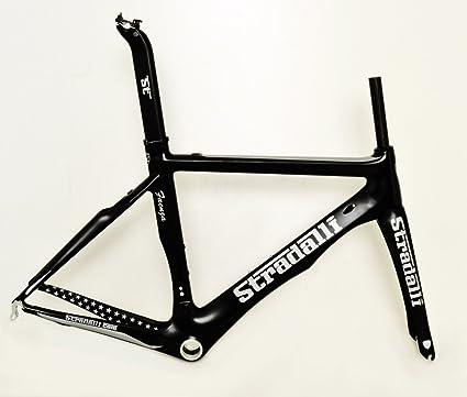 Amazon.com : Stradalli Carbon Fiber Aero Road Bicycle Cycling Bike ...